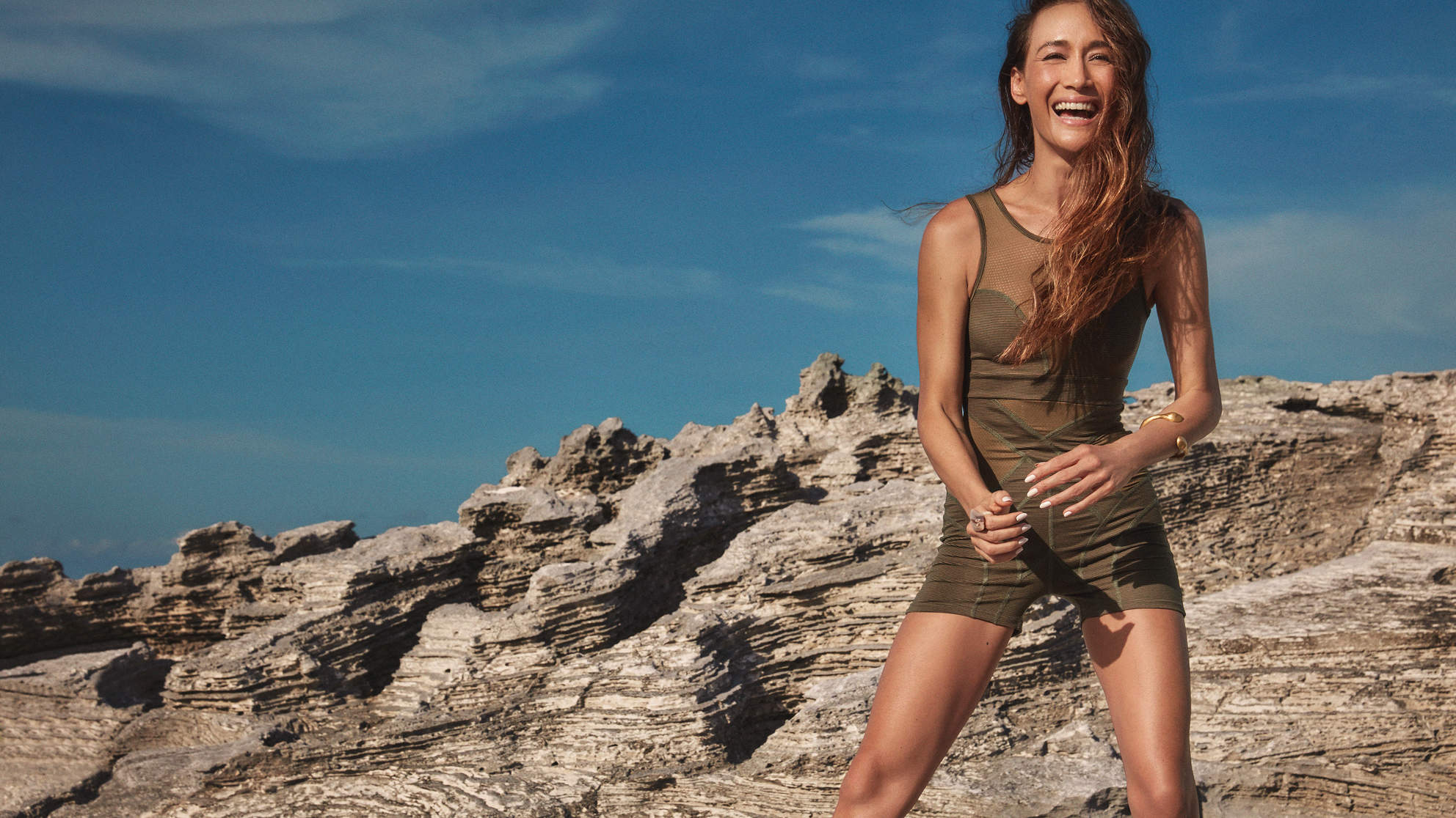 This New Athleisure Line by Actress Maggie Q Is Made From Recycled Plastic, but You Would Never Know It
