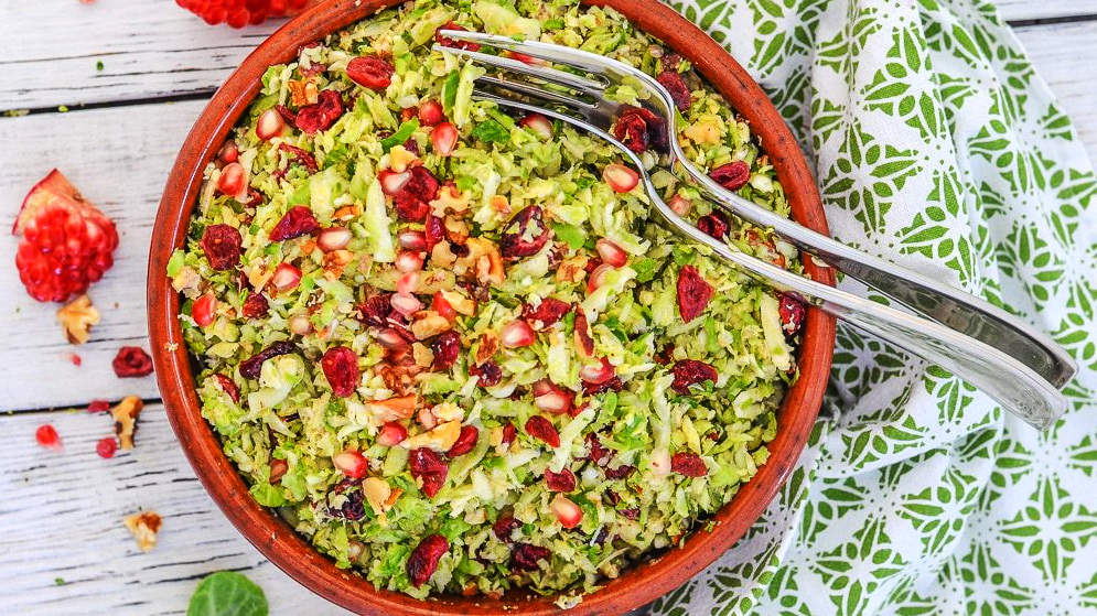 vegan-cranberry-brussel-sprouts-salad