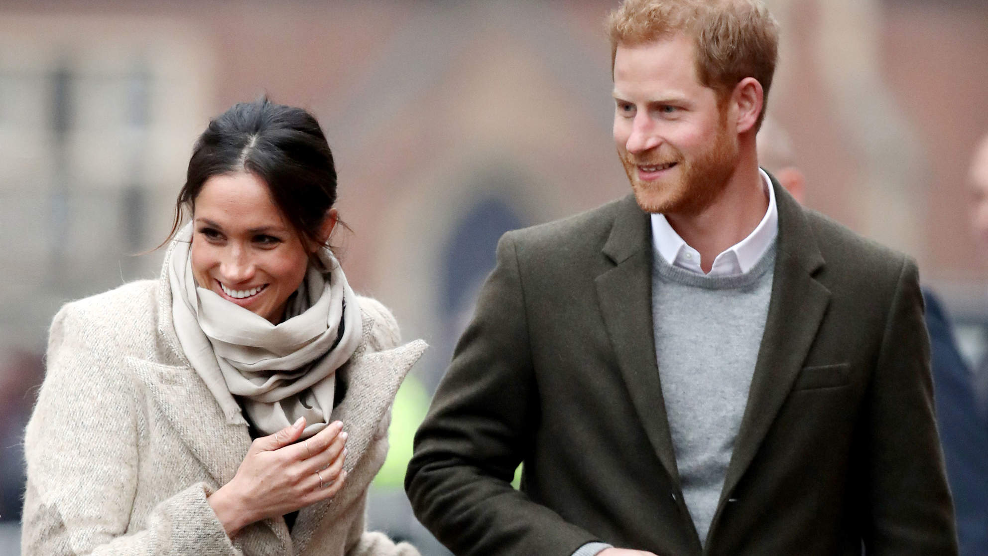 Clone of Prince Harry and Meghan Markle Make Their First 2018 Appearance in the Coziest Neutrals