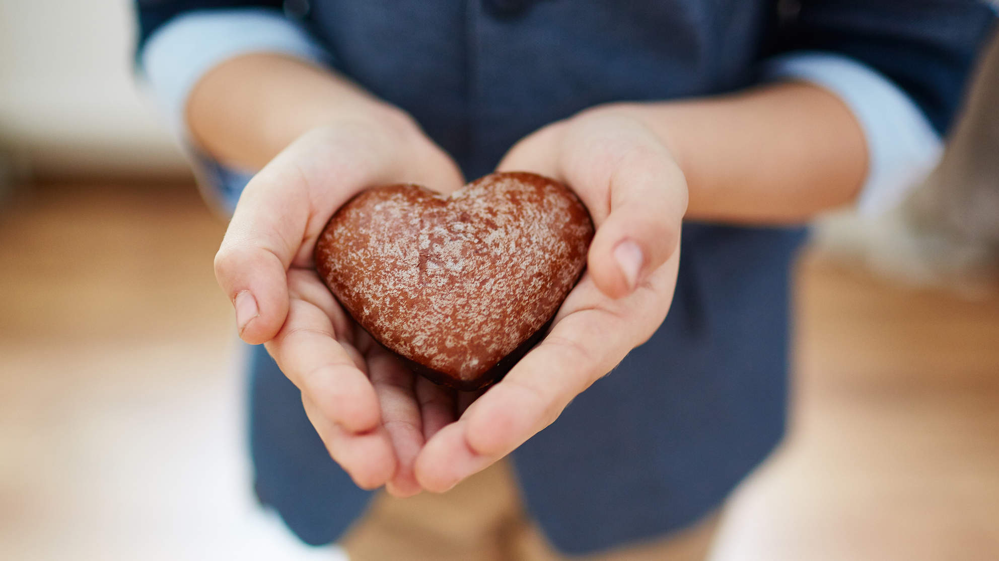 Boy Heart Brownie Hand