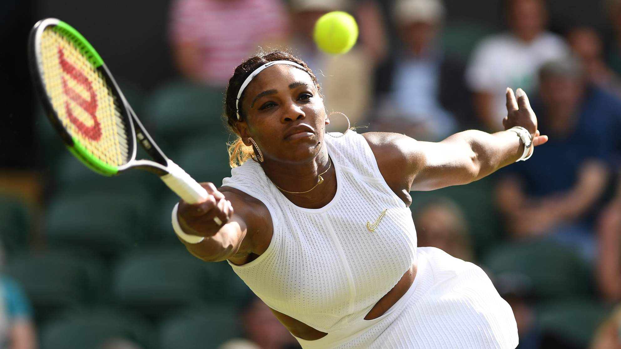 Serena Williams Won Her Wimbledon Match in a Cutout Minidress with a Custom  Broosh