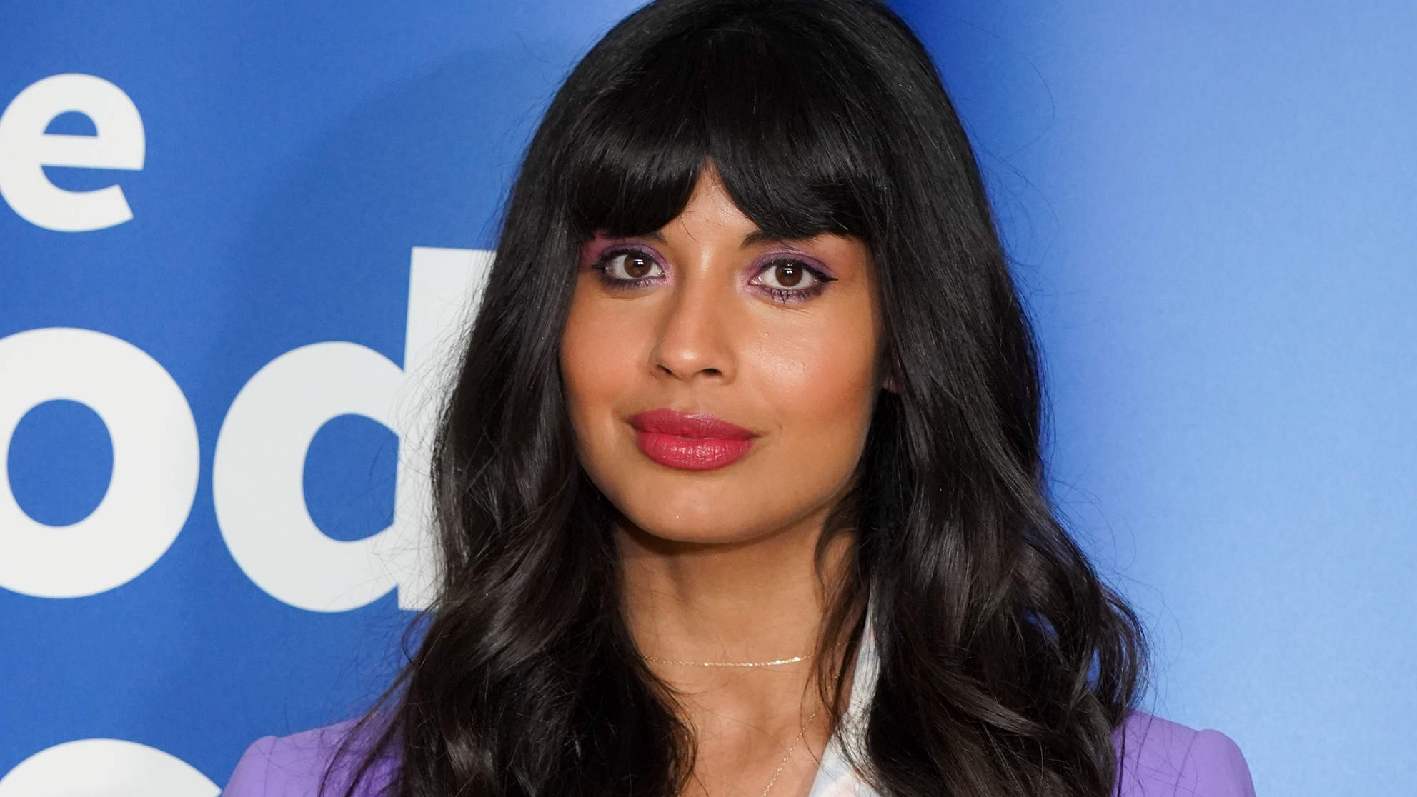 Jameela Jamil Is Taking a 'Hard Pass' on Kim Kardashian's Body Makeup Line