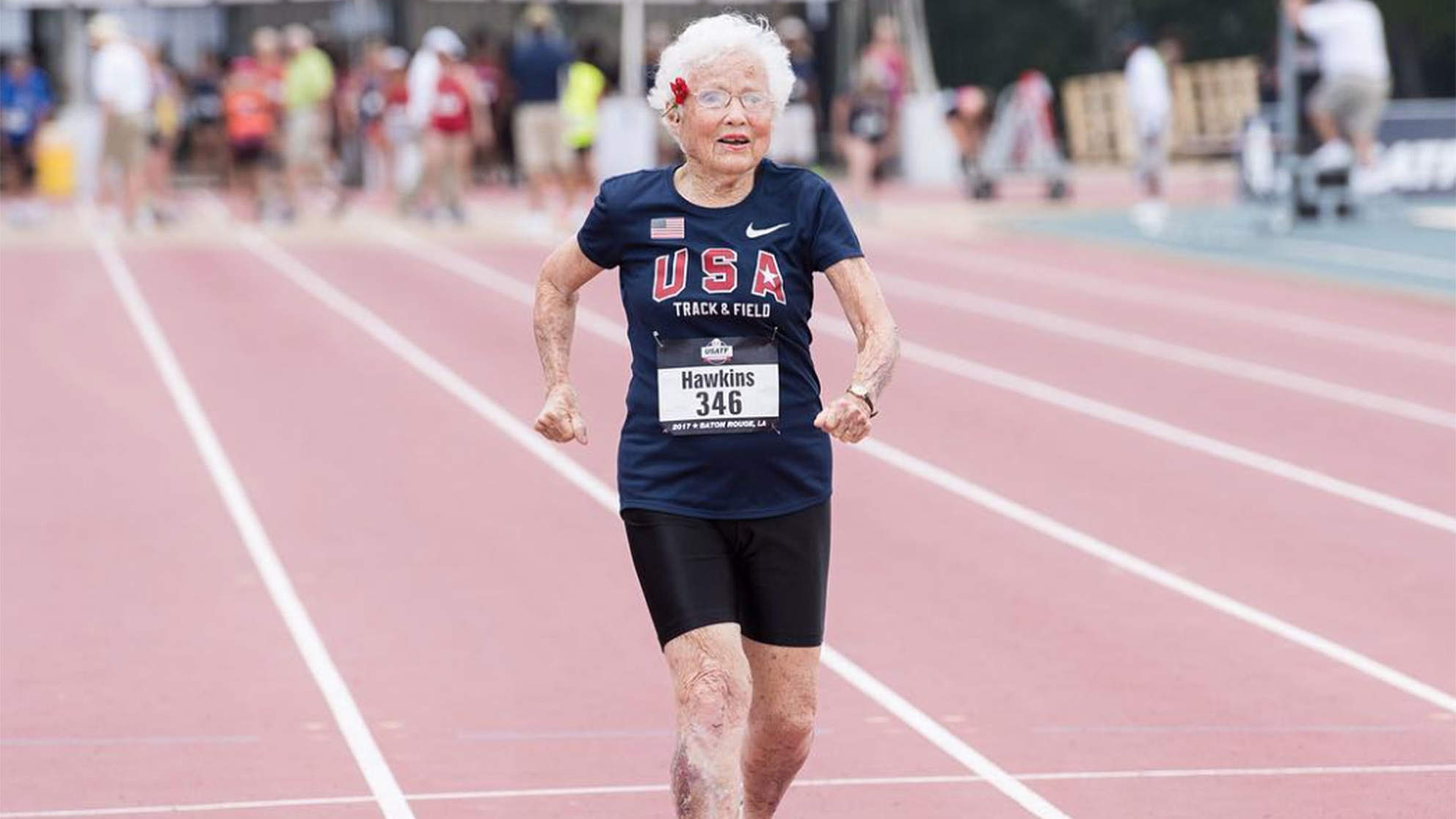 101-Year-Old Woman Breaks 100-Meter Record for Her Age Group — and Only Started Racing Last Year