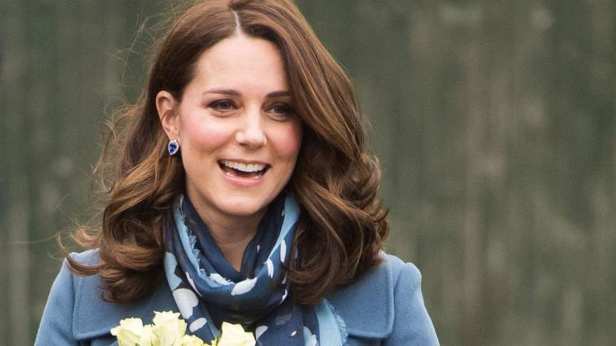 Pregnancy Flashback! Kate Middleton Wears Same Navy Coat She Wore While Pregnant with Charlotte
