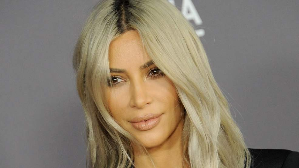 Kim Kardashian Wore Glitter—and Nothing Else—to Promote Her KKW Line