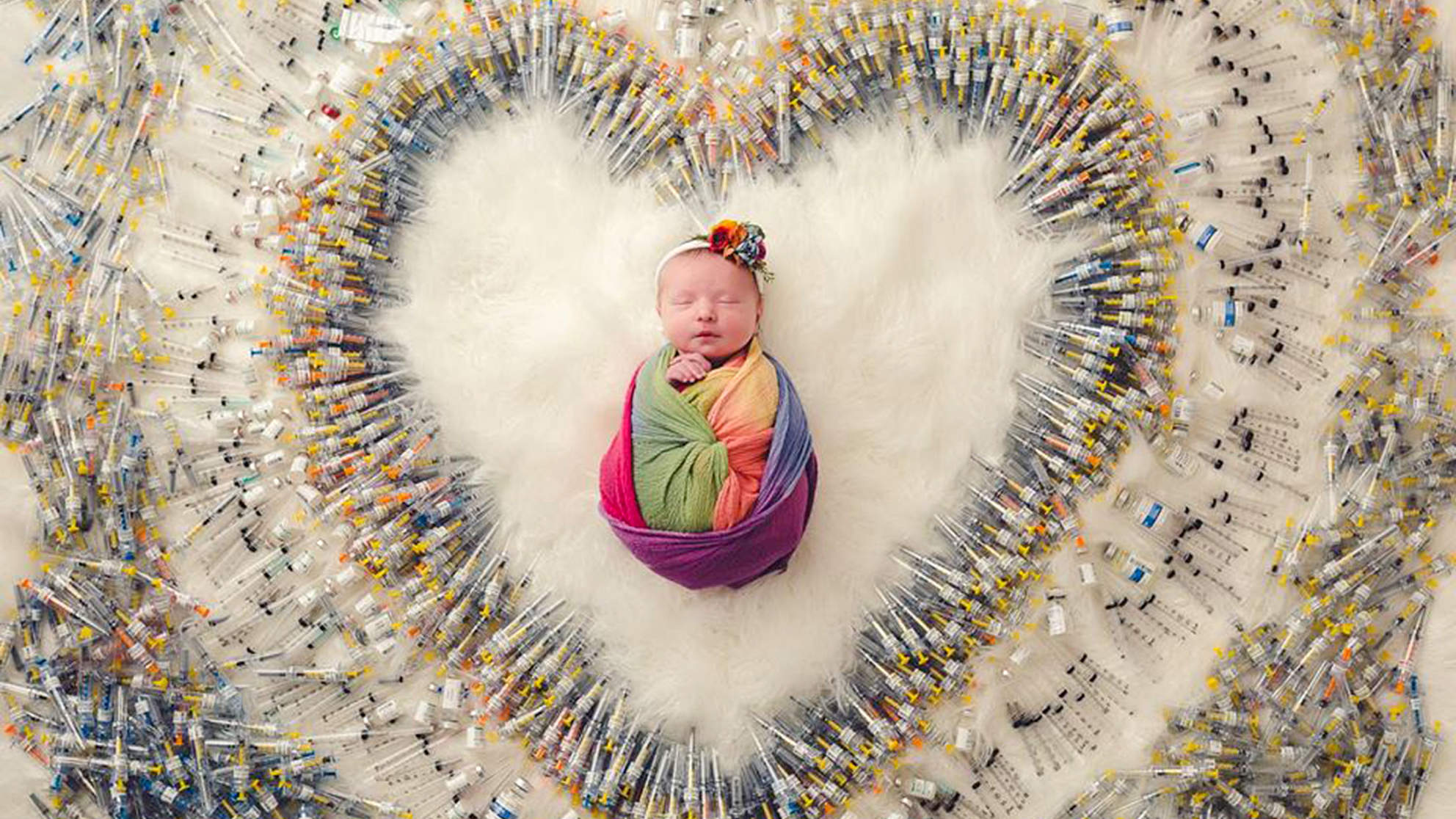 The True Story Behind the Viral Photo of Baby Girl Surrounded by 1,161 IVF Needles