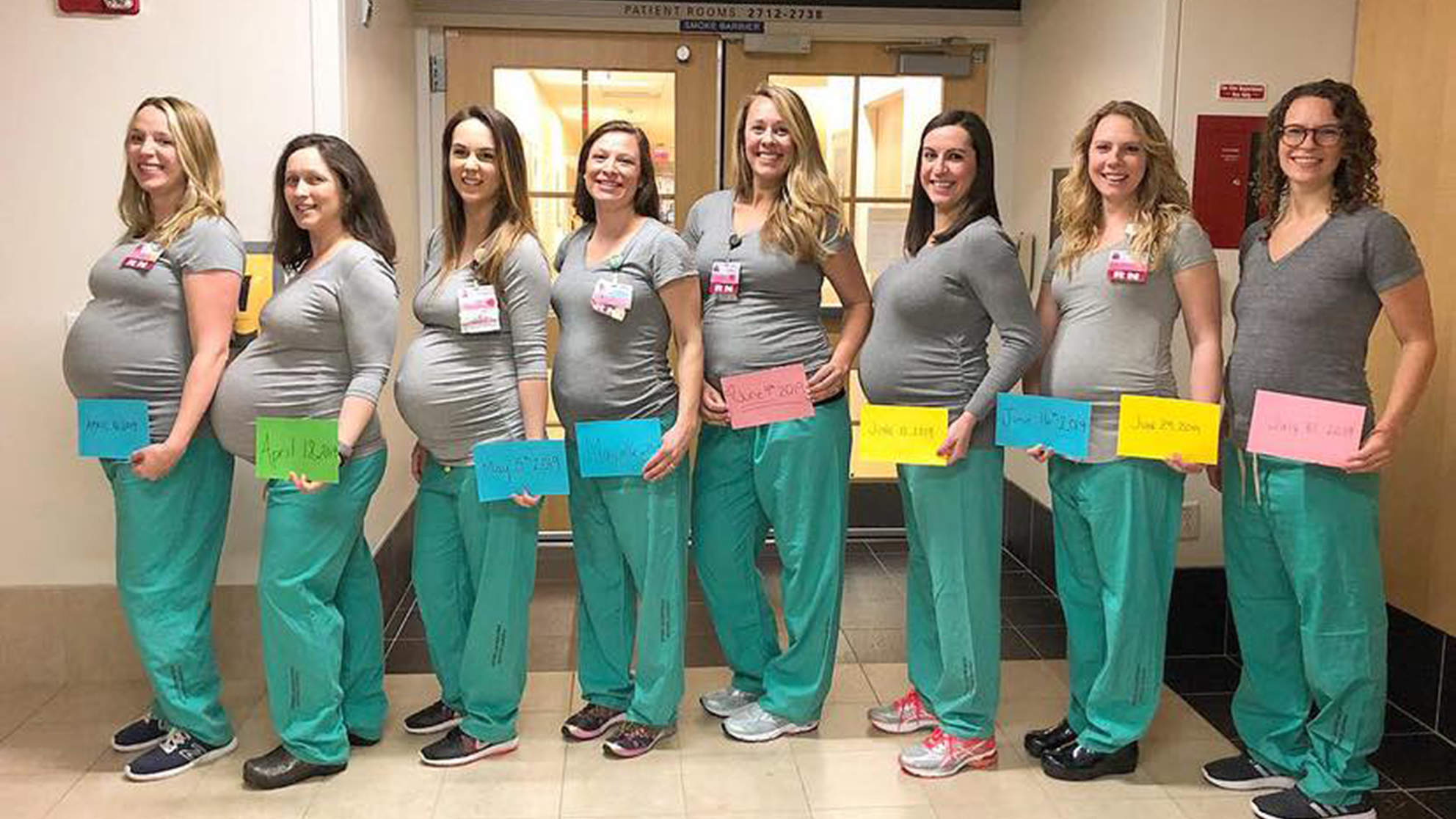 'How's This for a Baby Boom?' 9 Nurses at a Maine Hospital are Pregnant at the Same Time!