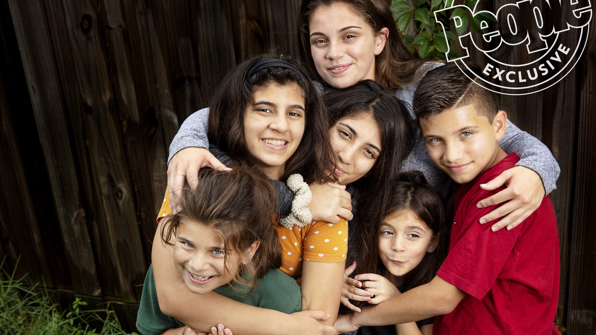 Samantha Rodriguez and her siblings