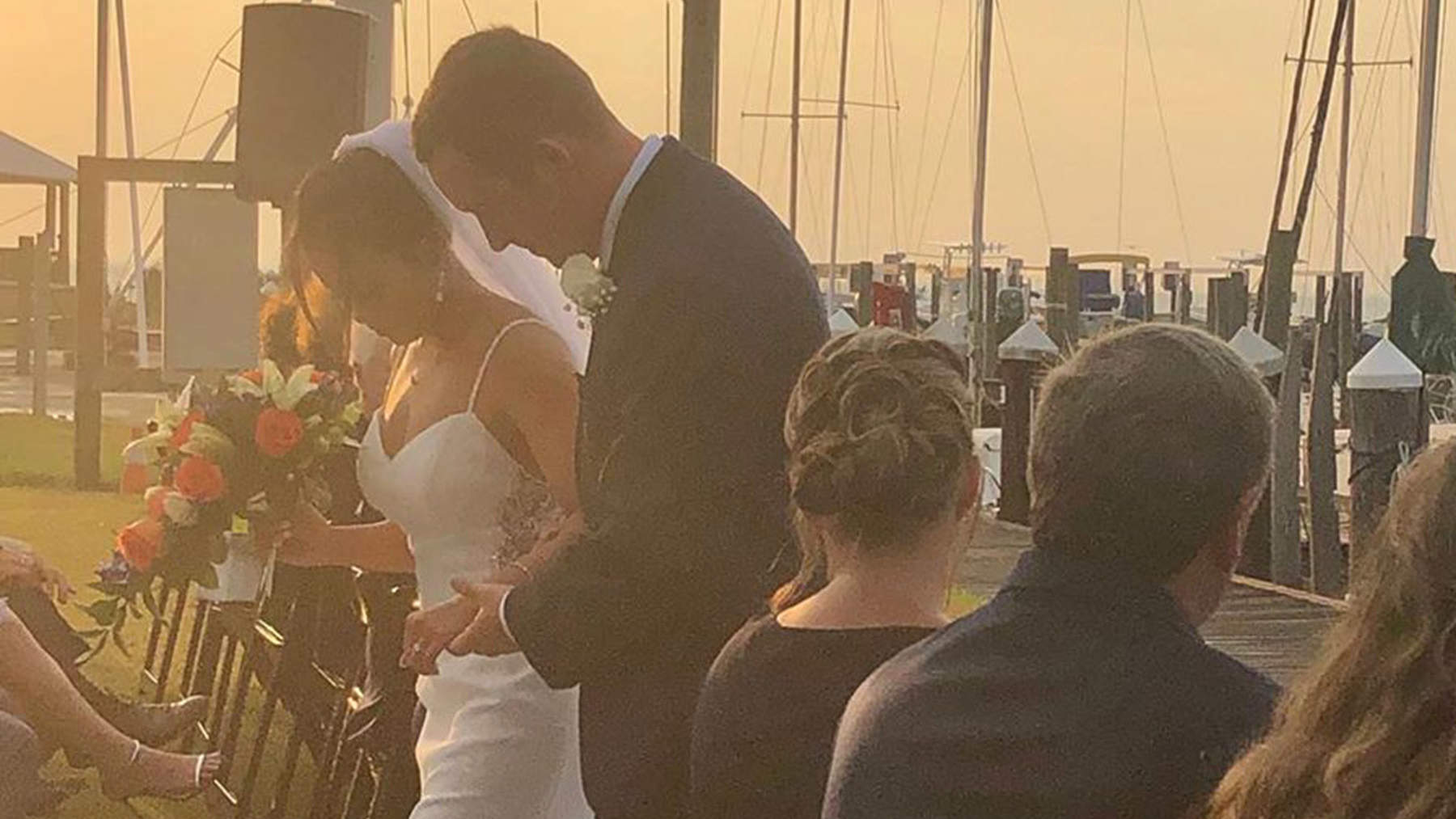 Gymnast Samantha Cerio Walks Down the Aisle After Breaking Both Knees in Horrific Injury
