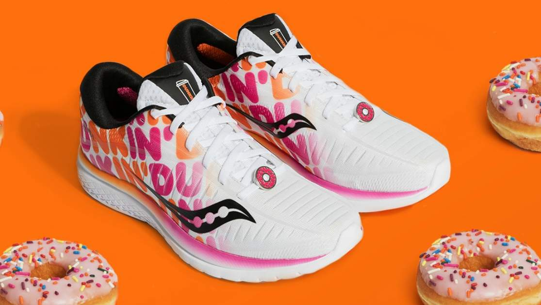 The Saucony x Dunkin' Kinvara 10 Sneakers Allow Donut Lovers of All Ages To Literally Run on Dunkin'