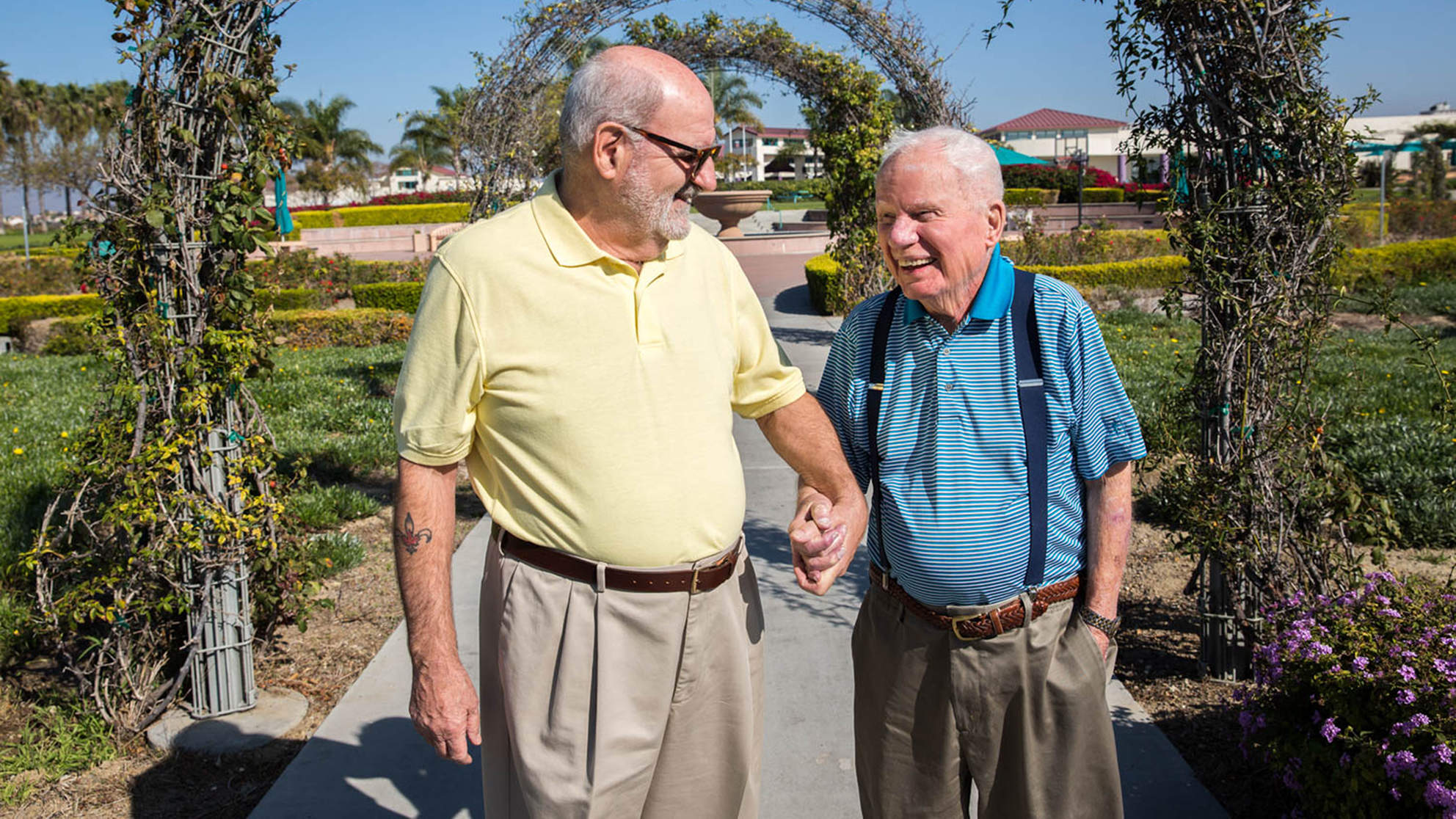 Gay Veterans—Ages 100 and 72—Share Story of Coming Out and Falling in Love in Nursing Home