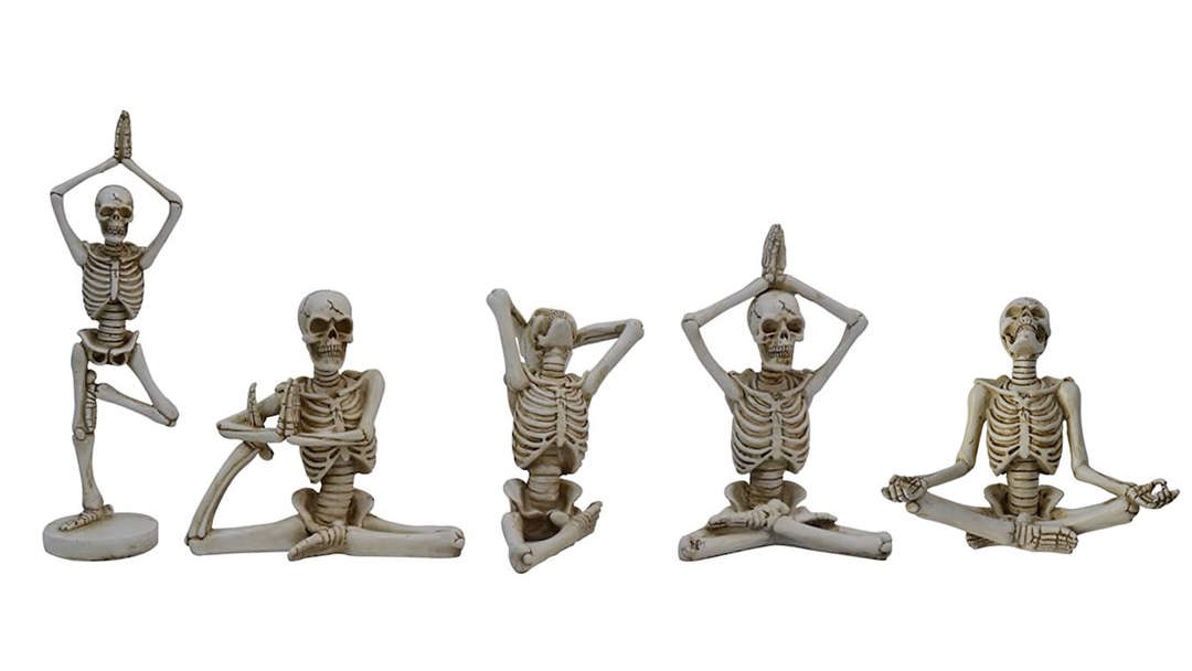 Namaste, Halloween! Michaels Is Selling 'Yoga Skeleton' Figurines to Decorate for the Holiday