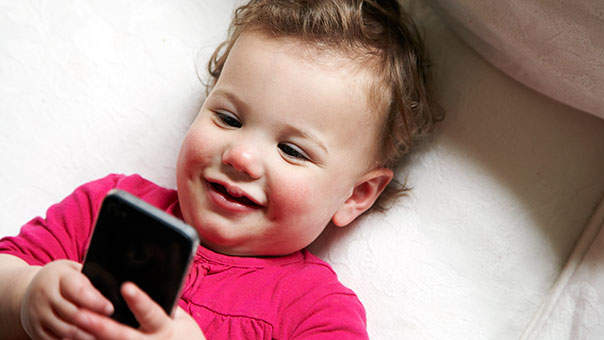 Babies Using Cell Phones: Not Great, But It's Happening