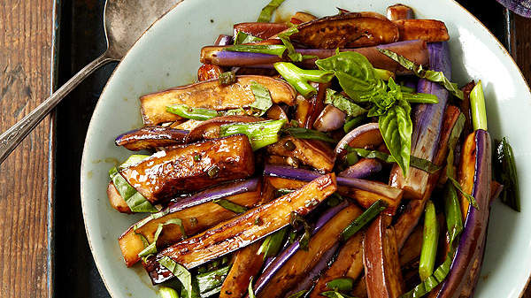 Hot and Sour Eggplant Stir Fry from The Chew's Carla Hall