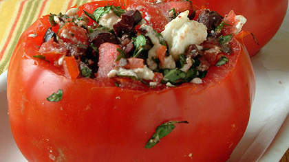 Recipe of the Day: Cheese and Olive-Stuffed Tomatoes