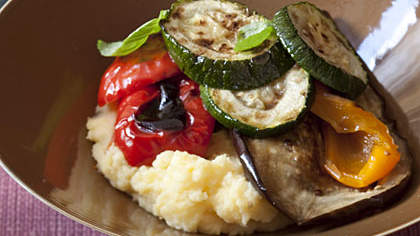 Recipe of the Day: Cheesy Polenta with Roasted Vegetables