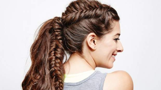 DIY This French Fishtail Ponytail Before Your Next Cardio Workout
