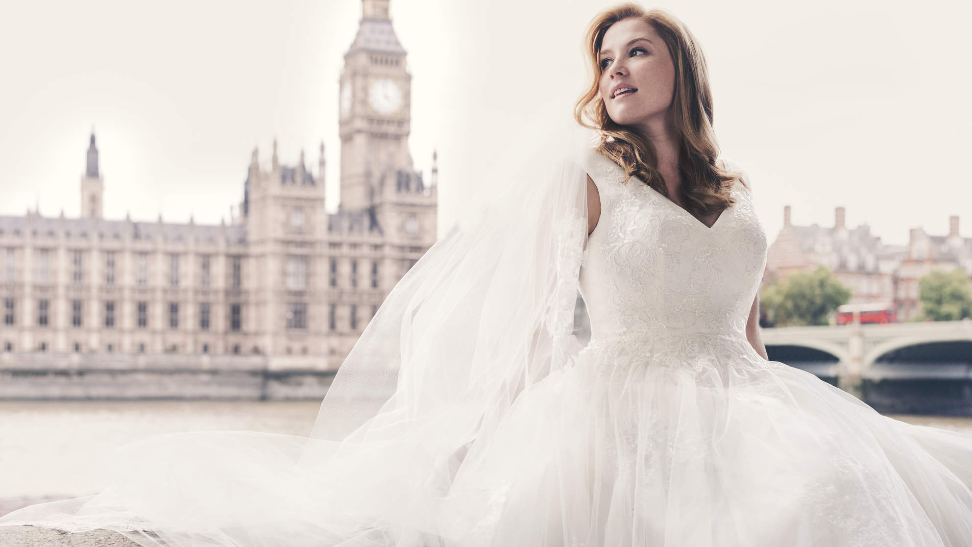 These Bridal Ads Featuring a Plus-Size Model Are Beautiful