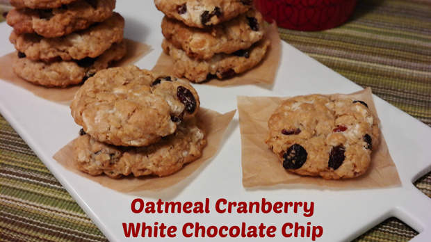Oatmeal Cranberry White Chocolate Chip Cookies