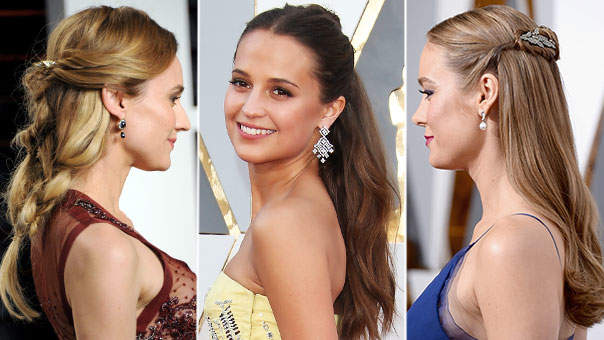 3 Half-Up Hairstyles From the Oscars You Can Totally DIY