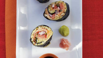 Recipe of the Day: Homemade Smoked Salmon and Avocado Sushi
