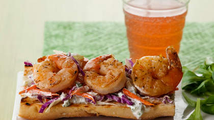 Recipe of the Day: Shrimp Tartines with Slaw