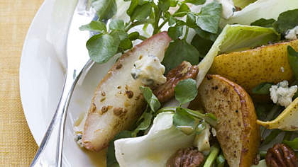 Recipe of the Day: Spiced Pecan and Roasted Pear Salad