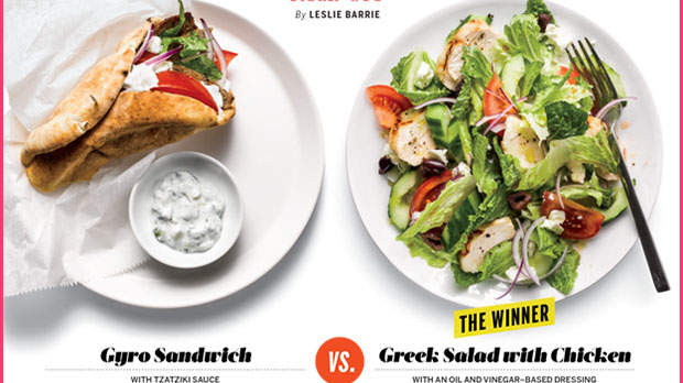 Which Is Healthier: A Gyro or a Greek Salad?
