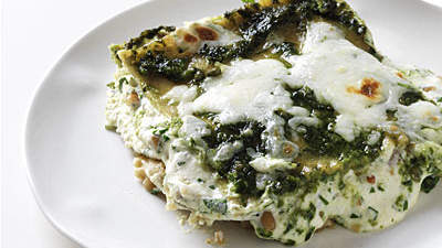 Bethenny's Pesto Vegetarian Lasagna