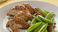 Rotisserie Chicken: Sweet Chicken and Snap Peas for Under 400 Calories