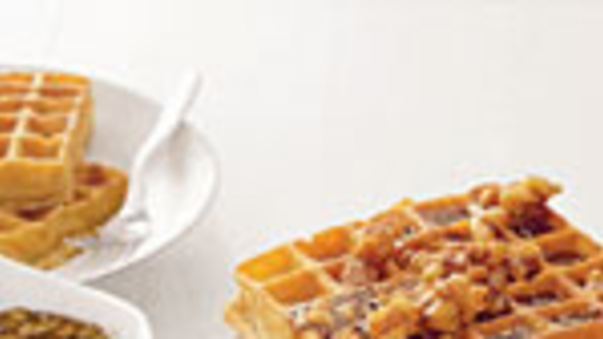 Ultimate (Easy!) Brunch: Pumpkin Waffles With Maple-Walnut Syrup