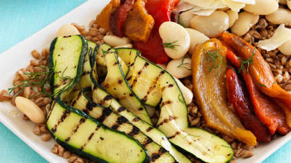 Toasted Farro With Roasted Vegetables and Fennel