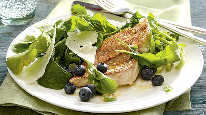 arugula-blueberry-salad-red-snapper