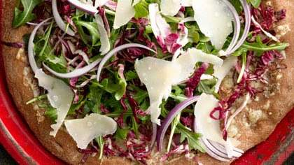 Arugula and Radicchio Salad Pizza
