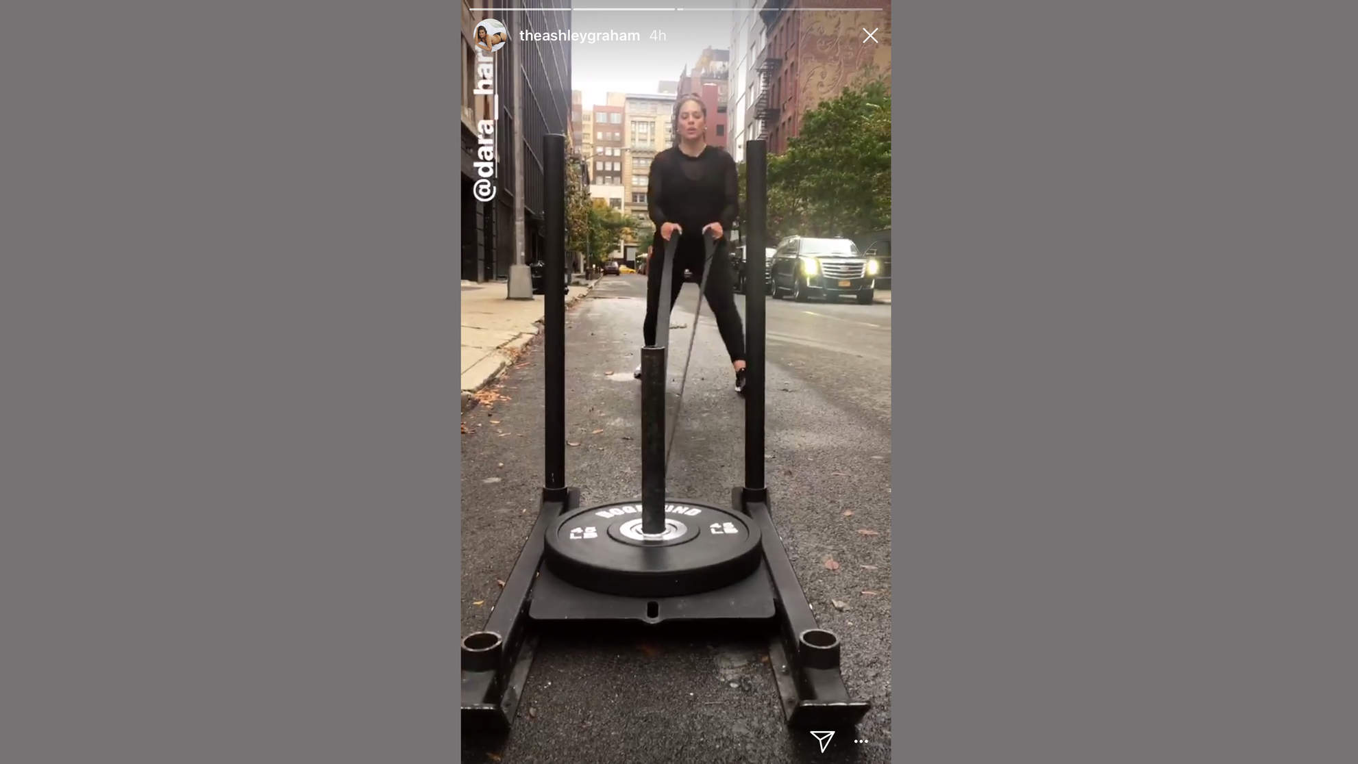 ashley graham weighed sled