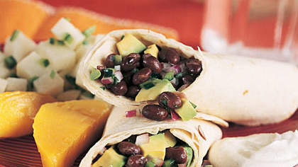 Black Bean and Poblano Tortilla Wraps