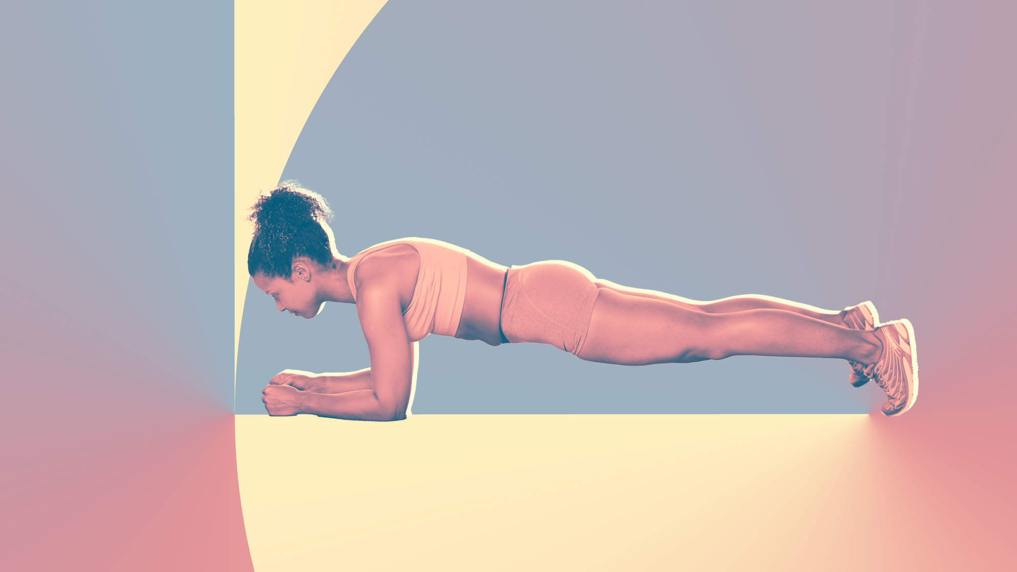 bodyweight-challenge woman health exercise wellbeing muscle strength plank