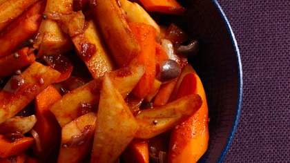 Braised Carrots and Parsnips