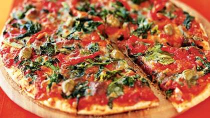 Broccoli Rabe and Cheese Pizza