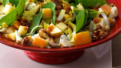 Chopped Apple Salad with Pomegranate Vinaigrette