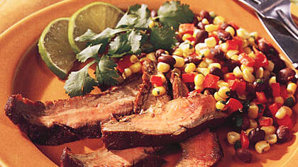 Grilled Flank Steak with Corn Salsa