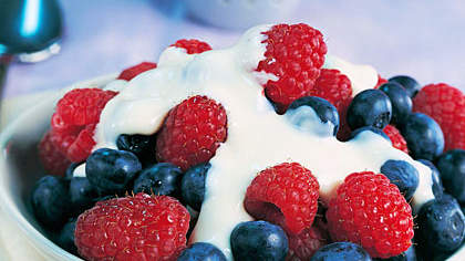 Fresh Berries with Maple Cream