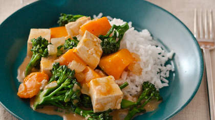 Gingery Butternut Squash and Tofu Curry