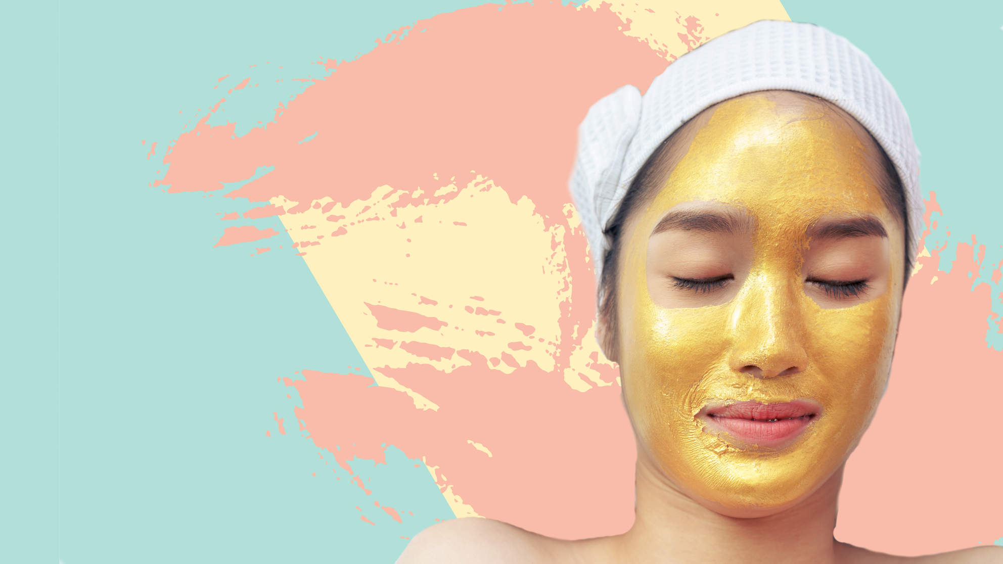 GOLD FACIAL MASK 24k moustirizing beauty product woman skin