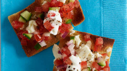 Greek Nachos with Feta