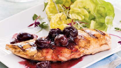 grilled-chicken-cherry-sauce