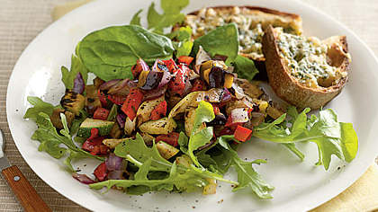 grilled-sicilian-vegetable-salad-toast