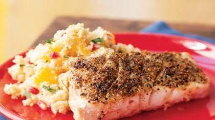 Grilled Grouper with Browned Butter-Orange Couscous