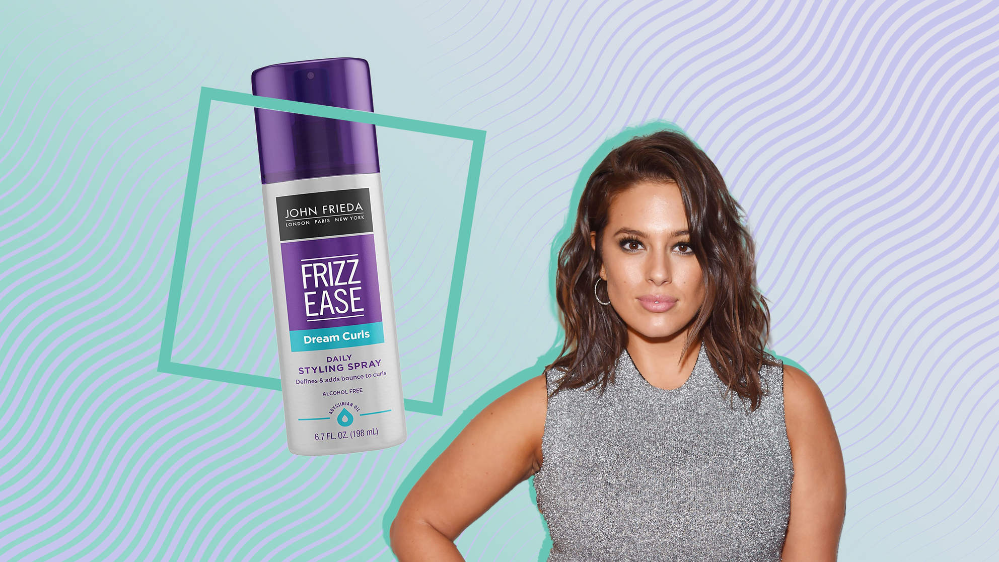 This $7 Hair Styling Spray Has Been Ashley Graham's Go-To Since Middle School