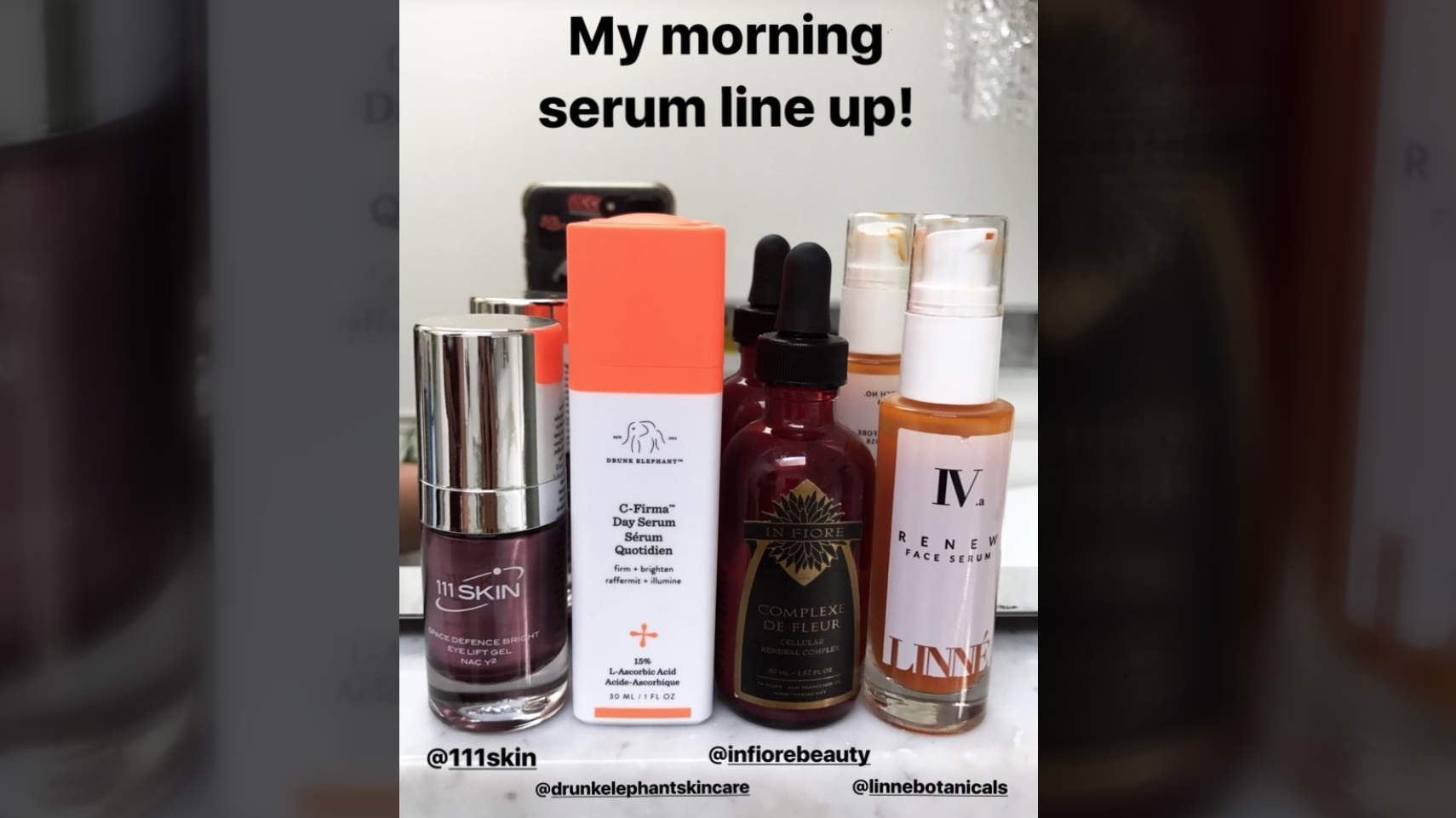 hannah-bronfman-instastory-morning-serum